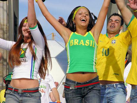 Brasilianische Fans bei der WM 2006